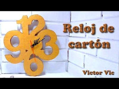 Manualidades: Como hacer un reloj de pared con cartón, manualidades con cartón.