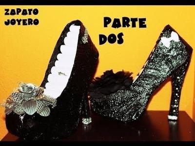 Manualidades zapato joyero de carton parte dos