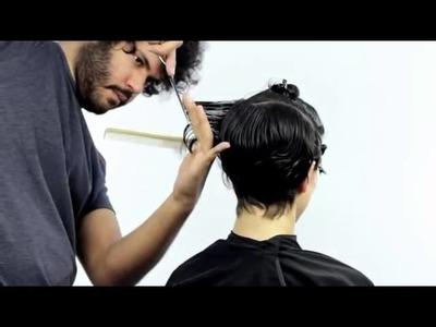 Metodo para realizar un corte de pelo corto en capas
