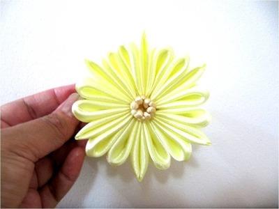 Moños en cintas para el cabello flores de dieciocho pétalos