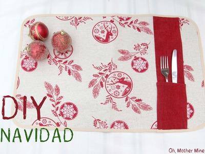 #NavidadFácil DIY Mantel individual navideño