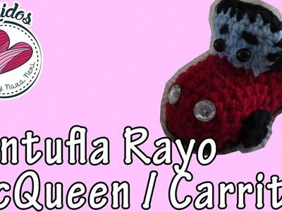 "Pantuflas de Carrito Tejido | ""Rayo Mcqueen"" Tutorial de Tejido"