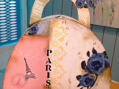 Pintar sobre madera - Papeles Decorativos - Efecto Oxido - Graciela Gomez