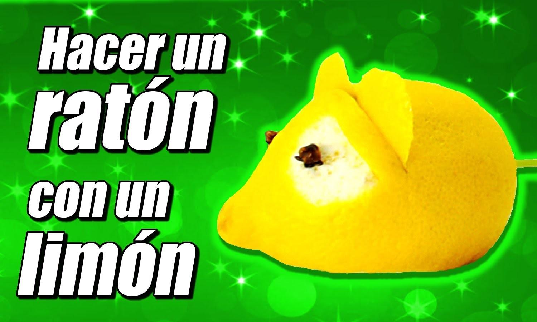 Ratón con un limón, cómo se hace