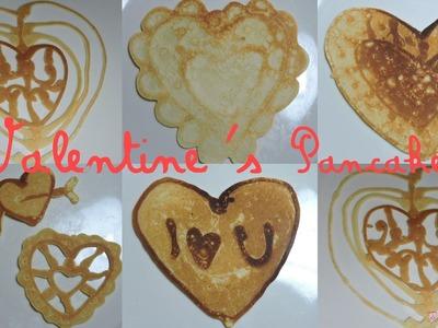 Riquísimo Pancake para San Valentín - Yummy Valentine's Day pancake art