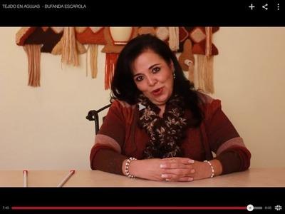 TEJIDO EN AGUJAS  - BUFANDA ESCAROLA - Tejiendo con Laura Cepeda