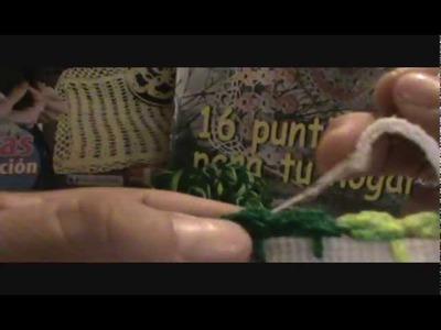 Tejiendo orilla de perritos  numero 5 tejidos para servilleta con marimur 281