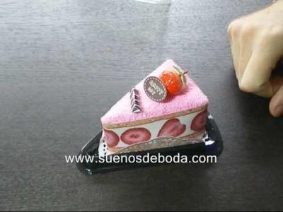 Toalla porción de tarta