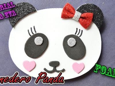 ♥ Tutorial: Monedero Oso Panda de Goma Eva (Foamy) ♥