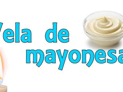 Vela de mayonesa casera (Experimentos Caseros para niños)