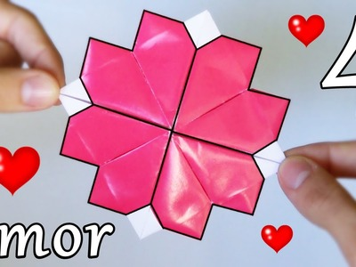4 Corazones de Papel - Origami Increíble!