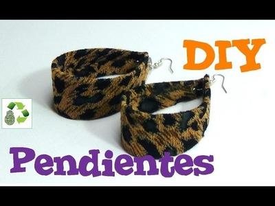 64. DIY PENDIENTES (RECICLAJE DE BOTE DE PLÁSTICO Y TELA)
