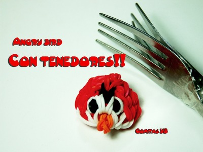 Angry bird con tenedores (con gomitas)