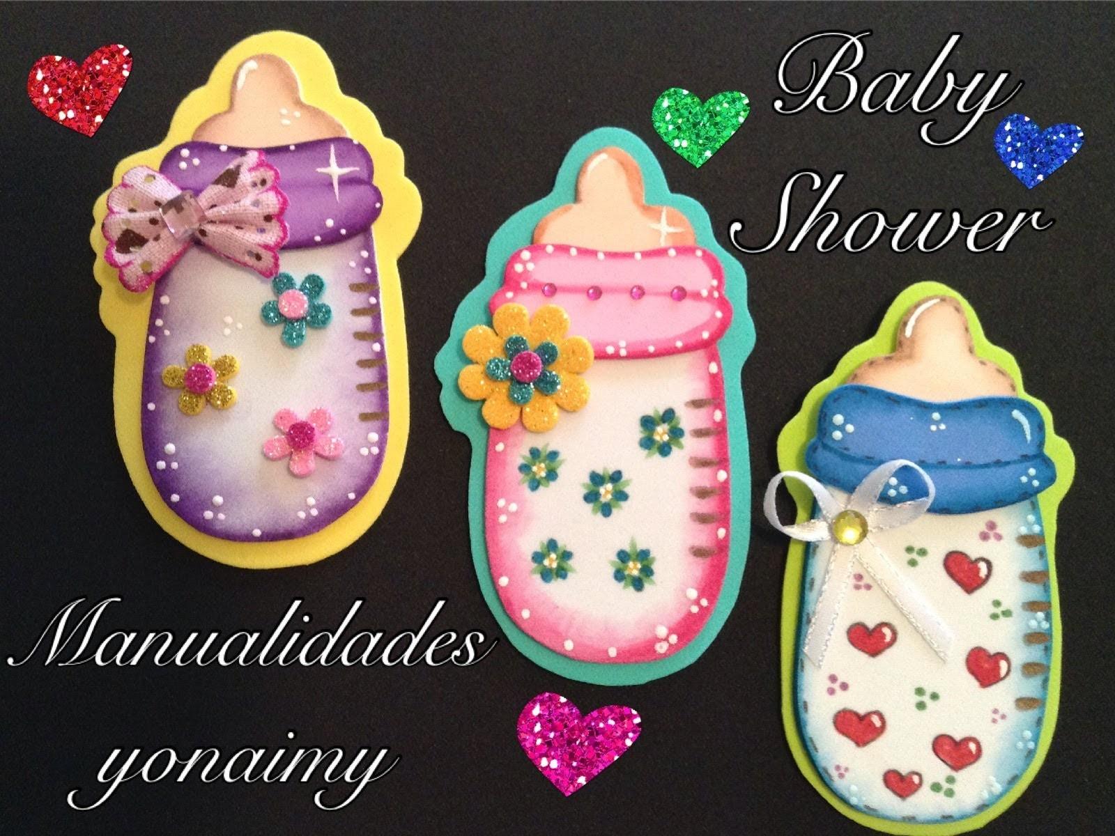 BIBERON O MAMILA PARA BABY SHOWER  DE FOAMY O GOMA EVA