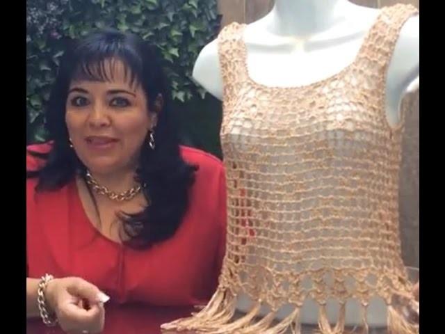 Blusa Alma - fácil y rápida tejido en gancho - Tejiendo con Laura Cepeda
