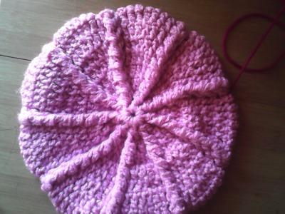 Boina tejida a crochet parte 3