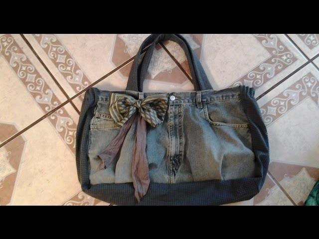Bolsa y pañalera de tela de mezcliya