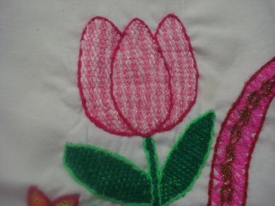 Bordado Fantasía Tulipan