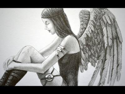 """¡Vídeo interactivo! cómo dibujar un Ángel o un """"Dark Angel"""" -  Arte Divierte."""