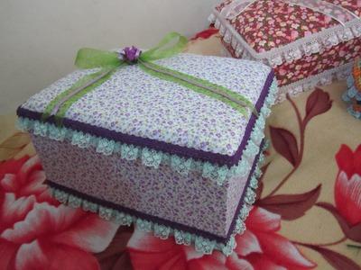 Cajitas decoradas con tela
