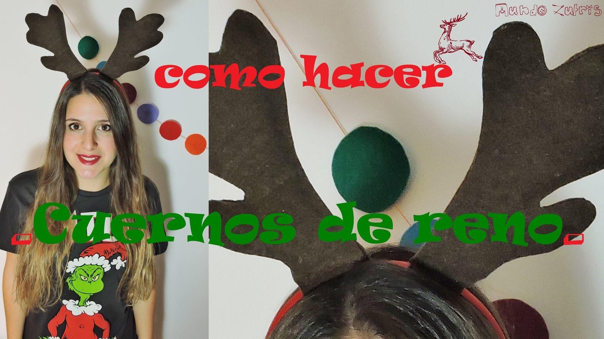 CHRISTMAS DIY - Como hacer cuernos de reno - How to make reindeer horn
