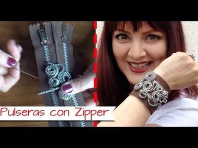 Chuladas Creativas :: Pulseras con Zipper :: Manualidades con Cierres