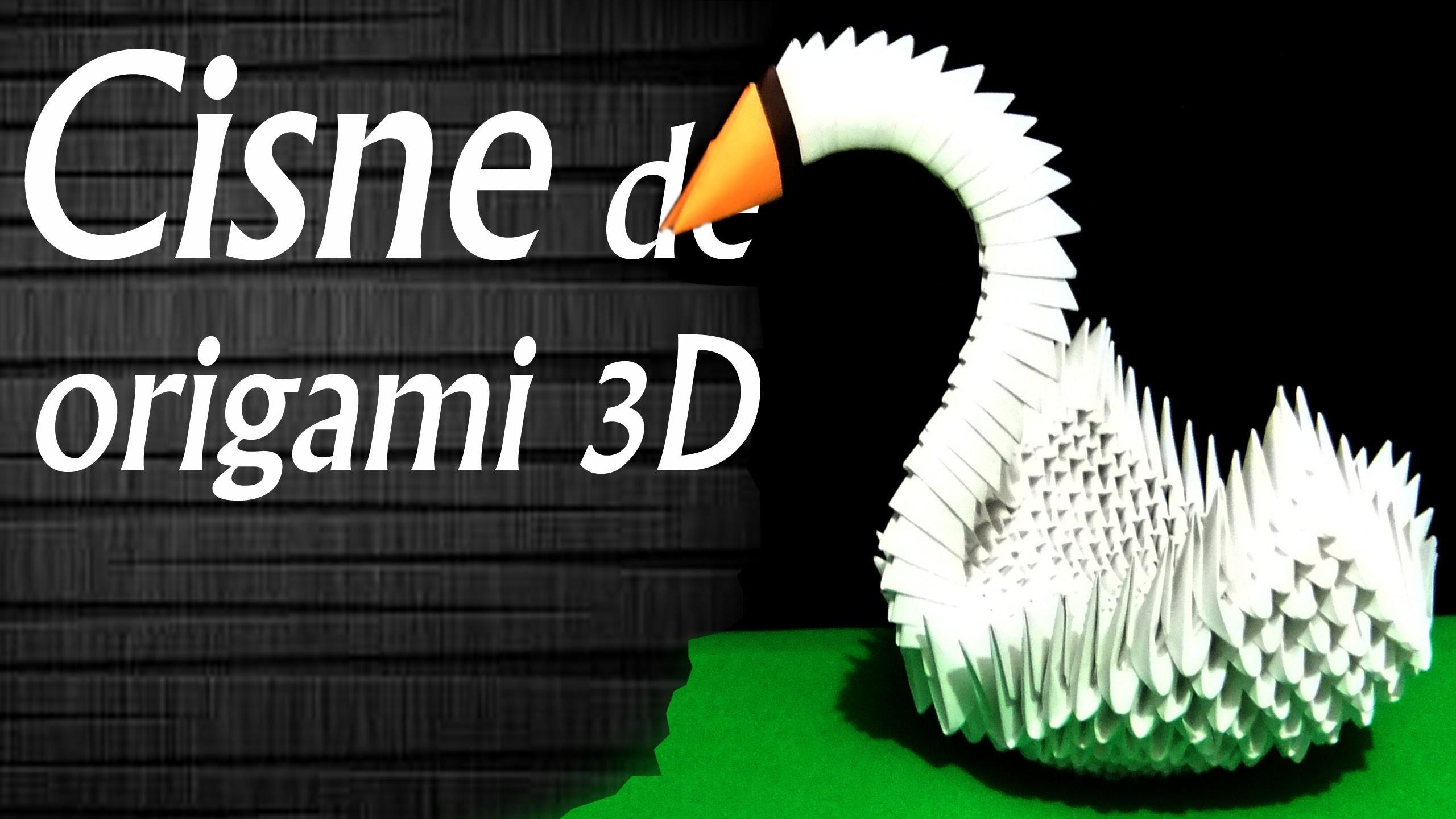 Cisne de origami 3D
