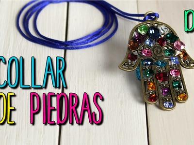 Collares de Moda - Collar de Piedras y Cristales -  DIY fácil paso a paso