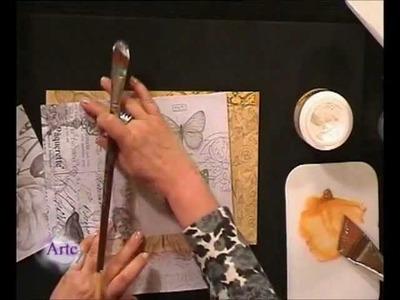 Cómo decorar con collage en telas y láminas una caja y un cuadro