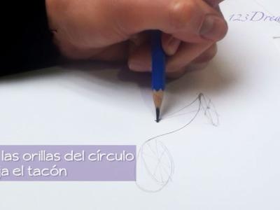 Como dibujar zapatos
