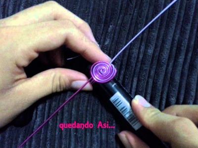 Como hacer Anillo Bicolor espiral