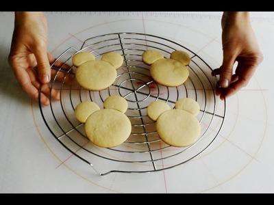 Como hacer galletas de Mickey y Minnie Mouse
