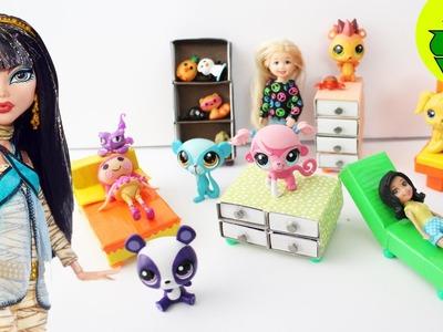 Cómo hacer muebles para tus muñecas (1era parte) - 6 manualidades  - Manualidades para muñecas: