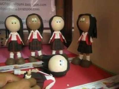 Como Hacer Muñecas Mofuchas Estudiantes high school ARTFOAMICOL Patrones navideños