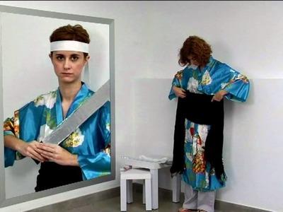 Cómo hacer paso a paso un disfraz de samurai