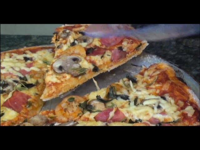 """Cómo Hacer Pizza (masa, salsa y preparación)como fazer massa de pizza e preparar """"TOQUE Y SAZÓN"""