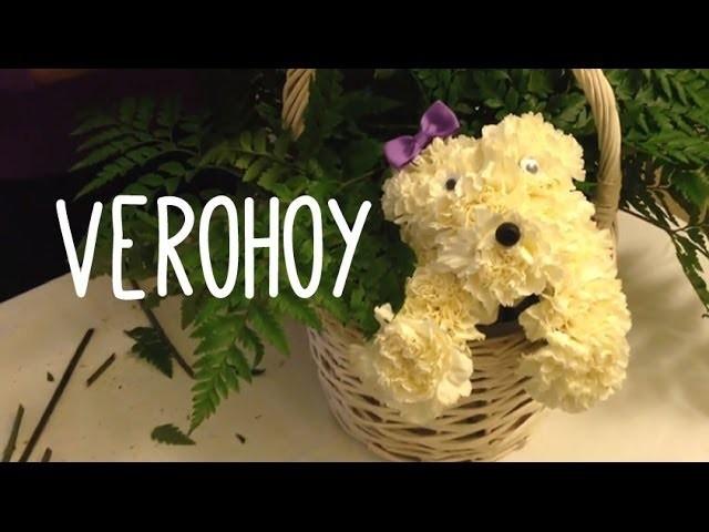 Como hacer un arreglo floral de perrito!