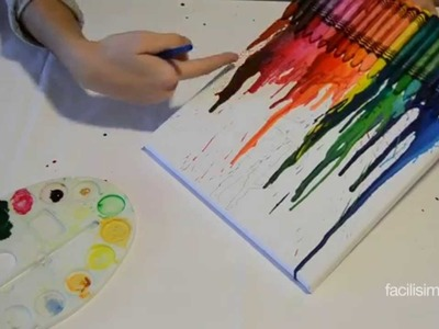Cómo hacer un cuadro de ceras de colores | facilisimo.com