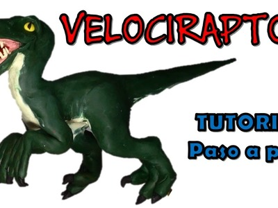 Como hacer un dinosaurio velociraptor de plastilina. How to make a velociraptor dinosaur clay