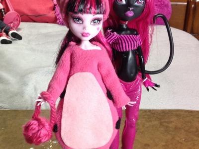 Como hacer un disfraz de gatita Kawaii para tus muñecas.