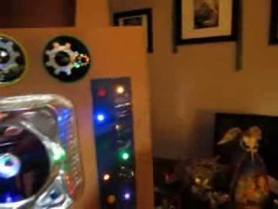 Como hacer un robot de carton con luz