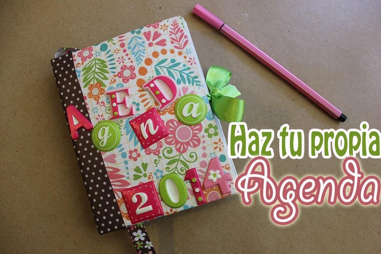Cómo hacer y encuadernar tu propia agenda - floritere - 2014
