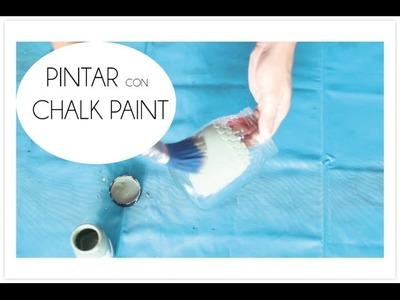 Como hacer lienzos caseros con cajas de pizza my crafts - Pintar chalk paint ...
