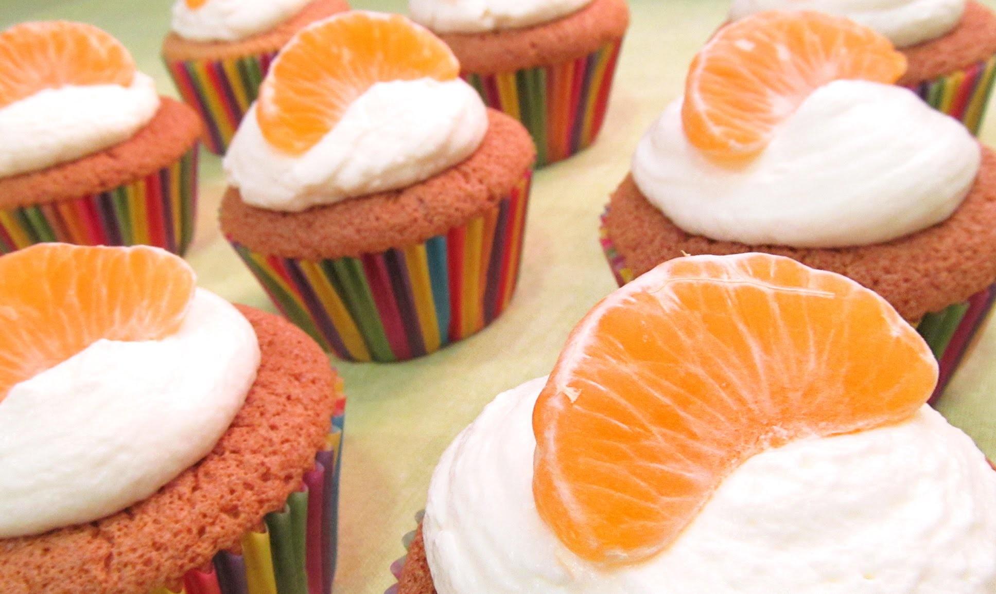 Cupcakes de Naranja Mandarina | Recetas de Cupcakes