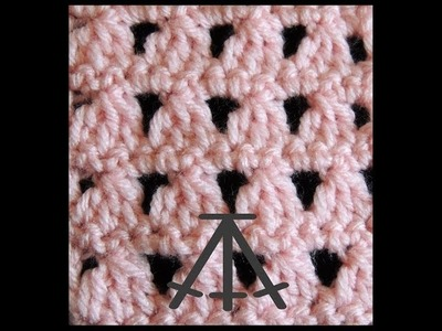 Curso Basico de Crochet : Tres Puntos Altos tejidos juntos