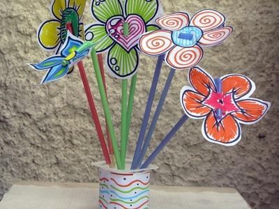 Decoración de fiestas - Flores de papel - Manualidades para todos