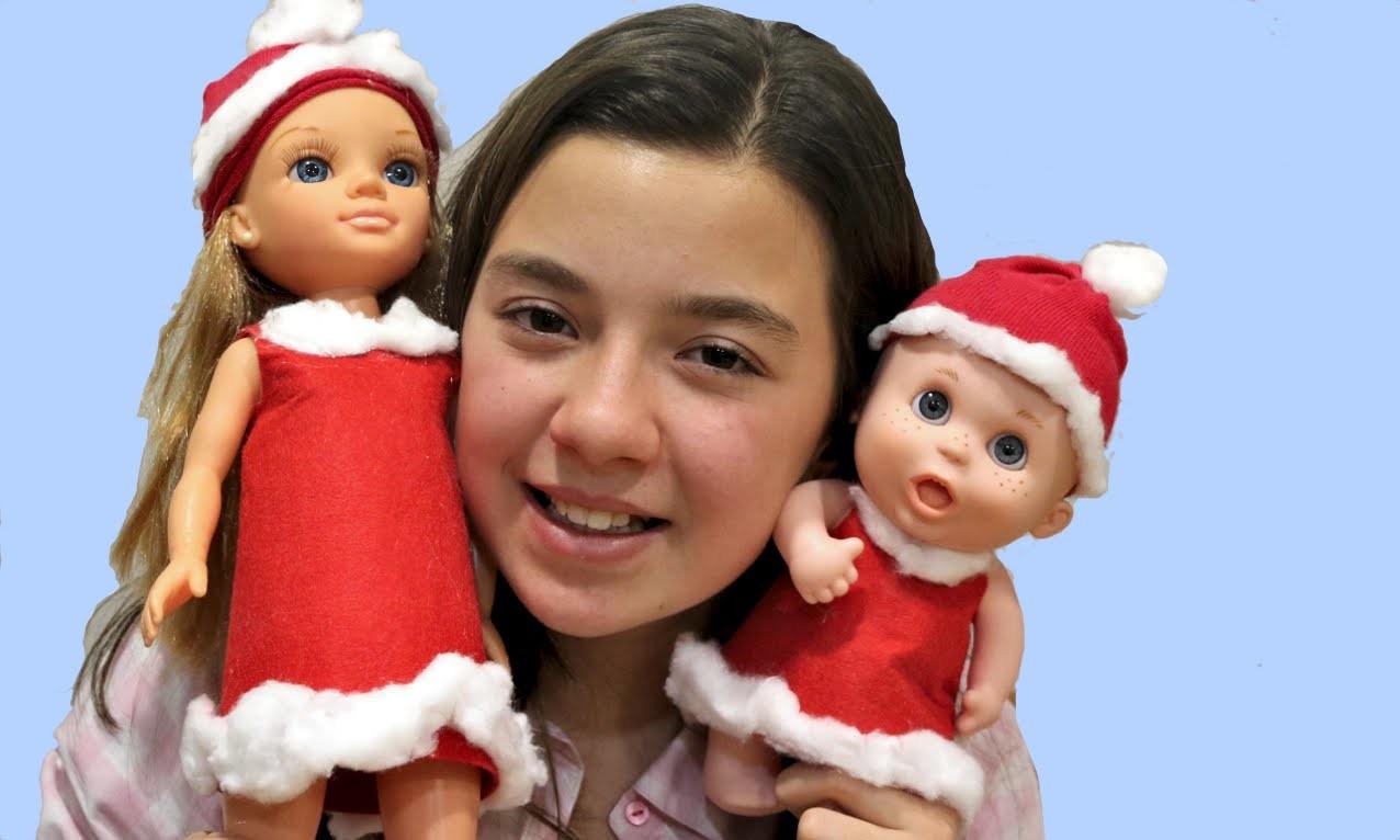 Disfraz para muñecos de Papá Noel