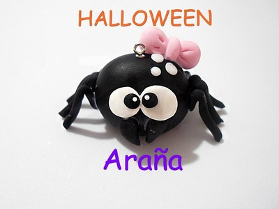 DIY araña paso a paso porcelana fría Halloween. Dia de Muertos