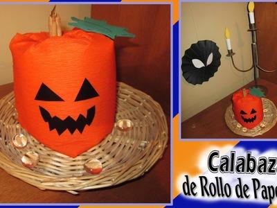 DIY: Calabaza de Rollo de Papel