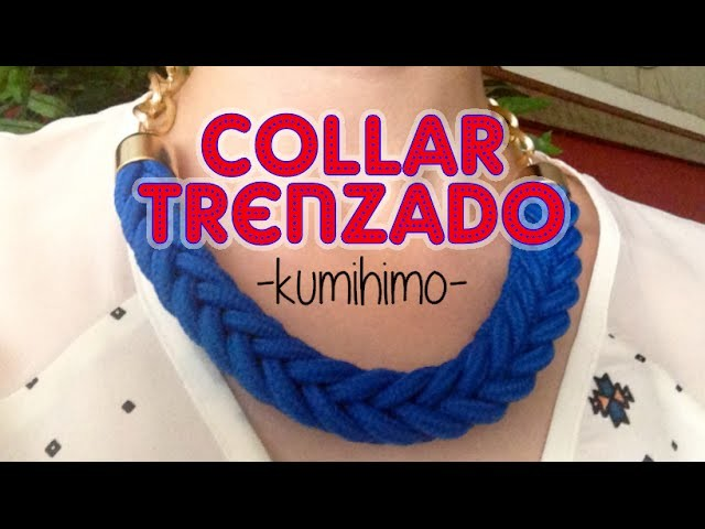 DIY: Collar trenzado kumihimo - Kumihimo braided necklace